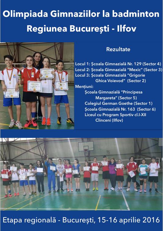 Olimpiada Gimnaziilor la Badminton
